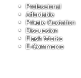 Professional Affordable Private Quotation Discussion Flash Works E-Commerce